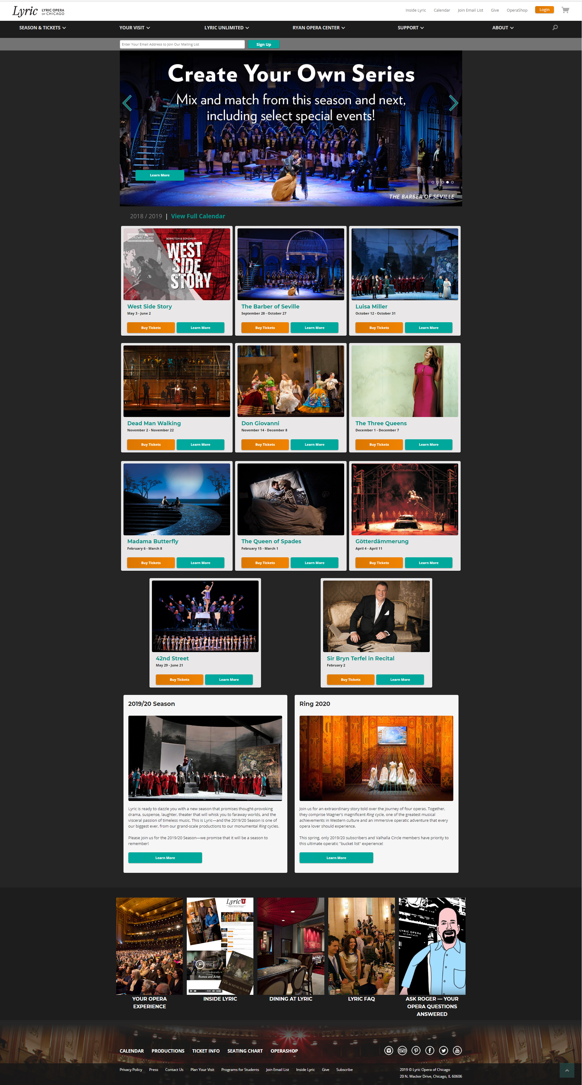Lyric Opera Homepage - OLD